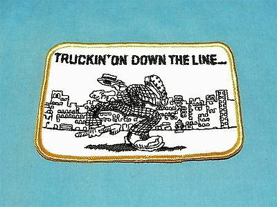 Vintage Robert Crumb Truckin On Down the Line Embroidered Patch