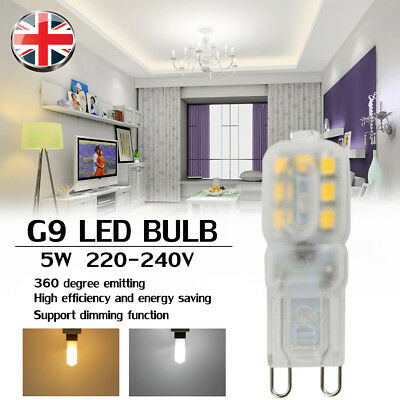 G9 LED 5W = 40W Light Bulb COOL WHITE Replacement For G9 Halogen Capsule Bulbs