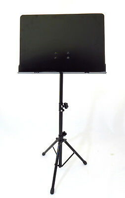 Ravel Conductor Aluminum Sheet Music Stand, Black
