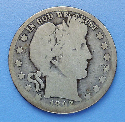 Key Date!! 1892-S U.s. Barber Silver Half Dollar ~ About Good Condition