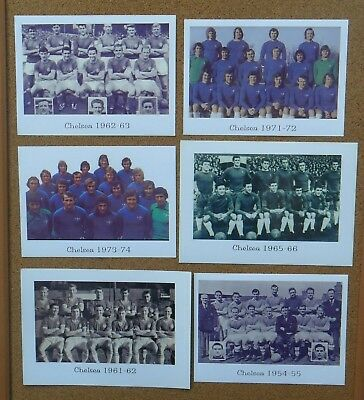 6 Chelsea Football Team Postcard-Size Photos