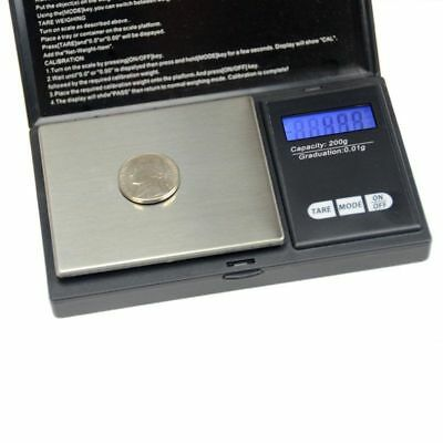 Digital Scale 200g/0.01g Jewelry Gram Silver Gold Coin Pocket Size Herb Grain SA