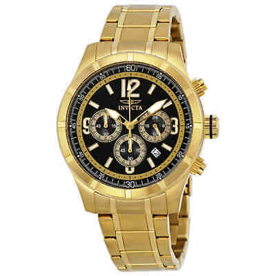 Invicta Specialty Classic Chronograph Blue Dial Gold-tone Men's Watch 11375
