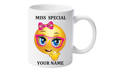 Emoji Coffee Mug, Personalised with your name,Little Miss Special