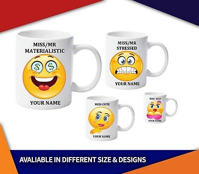 Emoji Coffee Mug, Personalised with your name,Little Mr/Miss Dreamy