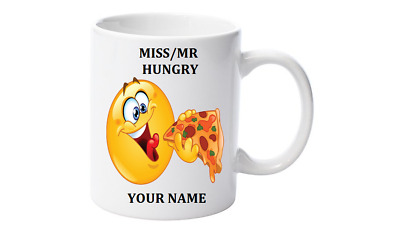 Emoji Coffee Mug, Personalised with your name,Little Mr/Miss Hungry