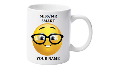 Emoji Coffee Mug, Personalised with your name,Little Mr/Miss Smart