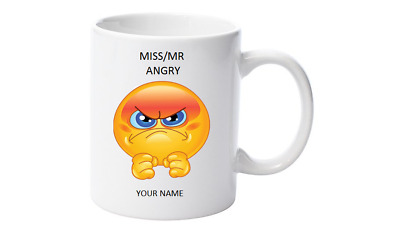 Emoji Tea,Personalised with your name,Little Mr/Miss Angry