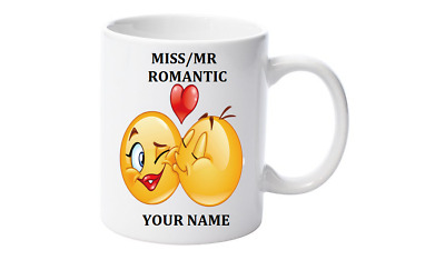 Emoji Coffee Mug, Personalised with your name,Little Mr/Miss Romantic