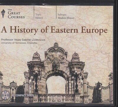 A HISTORY OF EASTERN EUROPE By THE GREAT COURSES CD's~24 lectures + PDF workbook