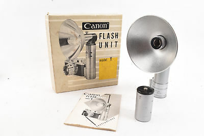 Canon Flash Unit Model Y for Rangefinder Camera Complete in Original Box RA97