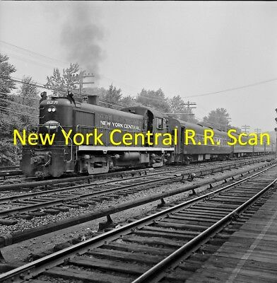 New York Central Railroad (Nyc) Original B&w Negative Of Engine 8271 In 1964