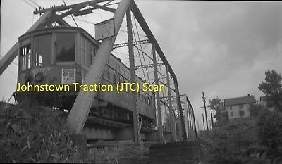 Johnstown Traction Company (Pa) Original B&w Trolley Negative Of Car 303 In 1947