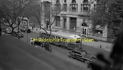 Philadelphia Transportation Co Original B&w Trolley Negative Of Pcc 2012 In 1949