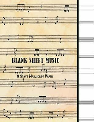 MUSIC SHEET STAVE Staff Notebook A4 50 Pages Manuscript Paper