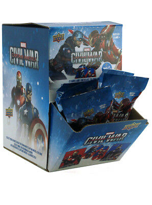 2016 Upper Deck Captain America Civil War Trading Cards 24 Packs Counter Display