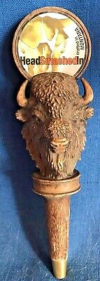 Head Smashed In Bison Buffalo Beer Ale Tap Knob Handle Montana Big Hole Brewing