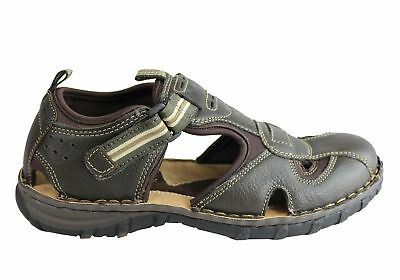 821761046d19 Wild Rhino Pitt Mens Comfortable Leather Closed Toe Sandals Shoes