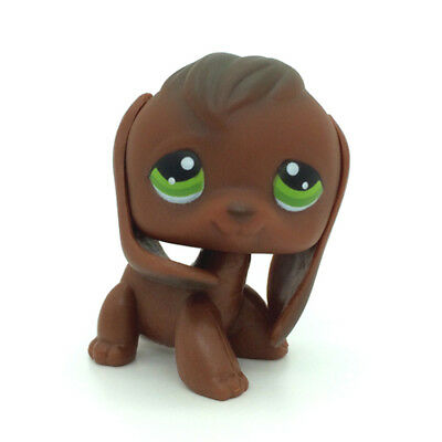 Littlest Pet Shop Red Brown Beagle Dog Puppy Animal Green Eyes LPS #77