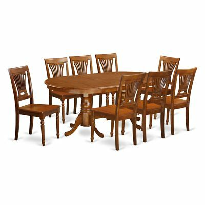 East West Furniture Plainville 9 Piece Empire Dining Table Set