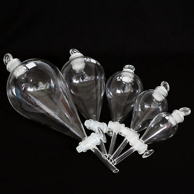 60ML~~~1000ML Lab Glass Separatory Funnel with Stopcock Chemistry Glassware LAB