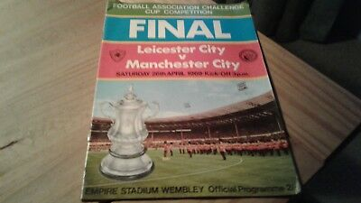 Leicester City v Manchester City FA CUP Final  Football Programme 26/4/1969.