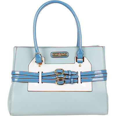 Nicole Lee Triple Buckle Belt Fashion Satchel 3 Colors