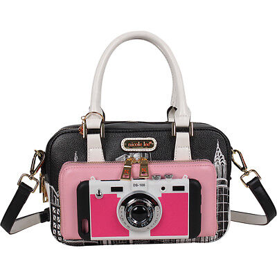 Nicole Lee City Cam Fashion Print Mini Structured Cross-Body Bag NEW