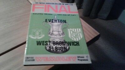 Everton v West Bromwich Albion FA CUP Final  Football Programme 18/5/1968.