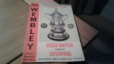 Leeds United v Liverpool FA CUP Final  Football Programme 1/5/1965.