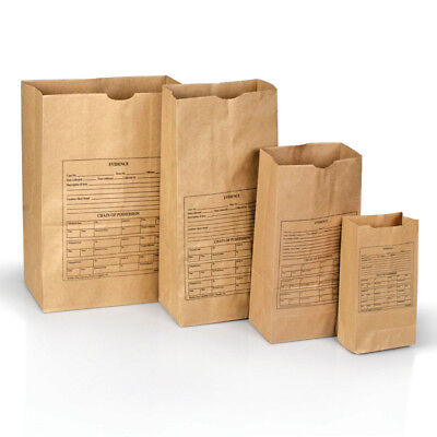 Armor Forensics 3-0024 Style Printed Paper Evidence 100 Bags