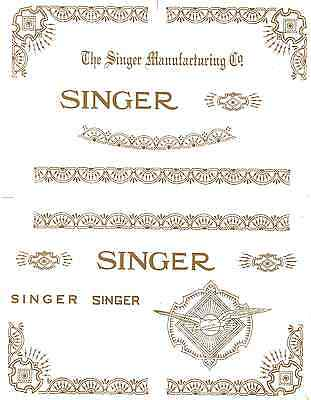 Singer Model 15 RAF Variation Sewing Machine Restoration Decals 40755