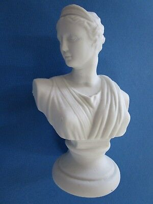 Porcelain figurine * Bust of ancient woman *. Europe. Biscuit porcelain. Parian