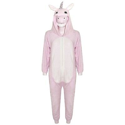 Kids Girls Unicorn A2Z Onesie One Piece Pink Hooded Soft Fluffy Xmas Costume