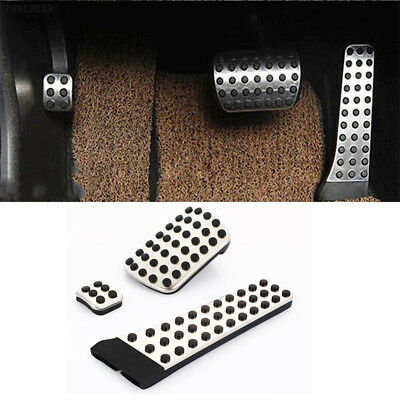 097E Useful Stainless Steel 1 Pcs Vehicle Foot Rest Car Rest Pedal Rubber