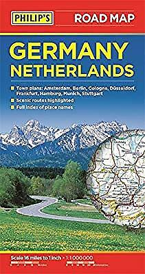 Philips Germany and Netherlands Road Map, Philips, Used; Very Good Book