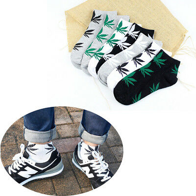 Mens Fashion Maple Low Cut Socks Sneakers Casuals Slipper Ankle Non Slip Summer