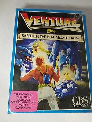 New Sealed With Creased Box Venture Blue Dragon Cbs Game For Intellivision J26
