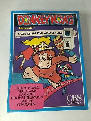 New Donkey Kong Game For Intellivision With Creased Box Rare Variant N36