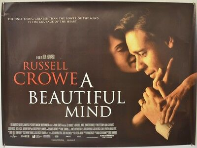 A BEAUTIFUL MIND (2001) Quad Movie Poster - Russell Crowe, Jennifer Connelly