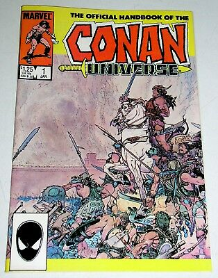 OFFICIAL HANDBOOK of the CONAN UNIVERSE   MARVEL ONE-SHOT 1986  HTF