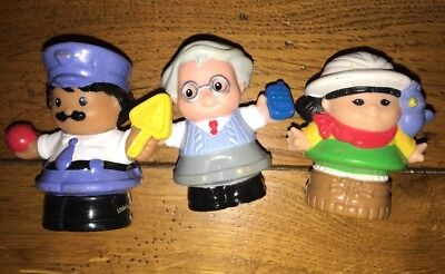 little people fisher price Lot 3 Figurines Personnages BE