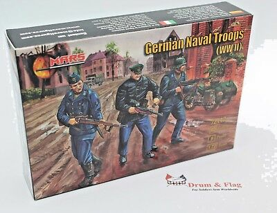 MARS 72112 German Naval Troops WW2. 1/72 Scale