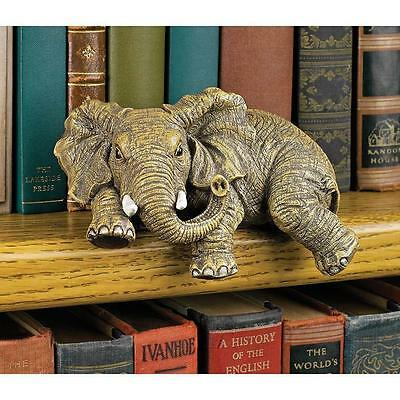 Elephant Shelf Sitter African Wildlife Statue Elephants Sculpture Figurine NEW