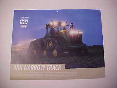 "2016,2017,2018,2019 John Deere ""Model 9RX Narrow Track Tractor"" calendar photo"
