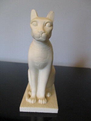 Bast Egyptian Cat Goddess Bastet Statue Egypt Figurine Sculpture Italy Signed!