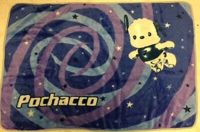 Sanrio POCHACCO Blanket 40x55 Blue Purple Stars 2000 Wall Decor