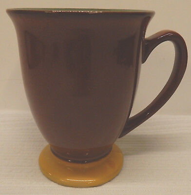 Denby SPICE Green and Brown Footed Mug