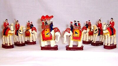 "Pieces Only New India Theme Chess Set  32 Piece Elephant Camel Maharaja 4"" Tall"