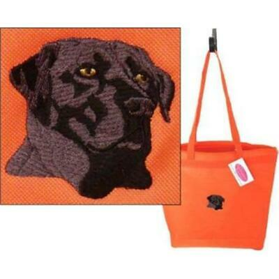 One Bella Casa 72118TT18P 18 in. Black Lab with Text Polyester Tote Bag by De...